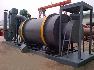 Three rotary dryer