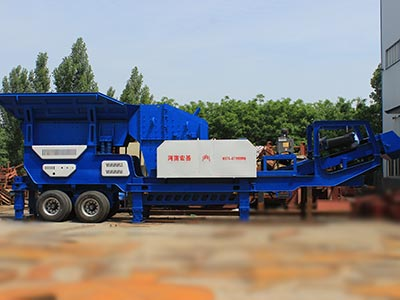 Moblie impact crusher station