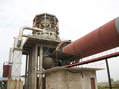 Calcium carbonate rotary kiln